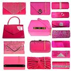 Fushia Hot Pink/Pink Rose Prom Bridal Wedding  Party Evening Clutch Handbags