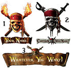PIRATES OF THE CARIBBEAN IRON ON TSHIRT FABRIC TRANSFER OR STICKER NAME lot PP