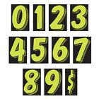 """Car Dealer Windshield Numbers - 7.5"""" Chartreuse/Black - Sold Individually (dzn)"""