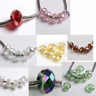 FREE SHIP 20pcs Crystal Charms Beads Fit Bracelets Hot Sale Colorful TO Pick