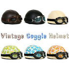 Variety of Vintage Style Scooter Goggles Retro Helmet