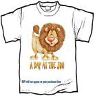 T-shirt - a DAY AT THE ZOO -- LION - yth xSmall - adult 6xlarge