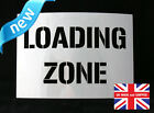 Reusable Loading Zone Airbrush Painting Stencil Sign Wall Door Floor Pavement Cr