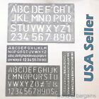 "Внешний вид - 4 piece SET 1-1/8"" Alphabet Letters & Numbers Stencils Plastic YOU CHOOSE COLOR"
