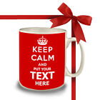 KEEP CALM AND CARRY ON PERSONALISED WITH ANY TEXT ANY COLOUR GIFT MUG CUP RETRO