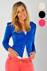 Womens Jacket Button Fasten Ruched Long Sleeved Dress Blazer Ladies Brand New