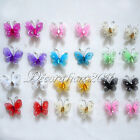 "10 Of 1"" 2.5cm Nylon Glitter Artificial Butterfly Rhinestone Wedding Favor Decor"