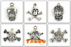 Free Ship 10x Lots Skull Tibetan Silver Alloy Assorted Charms Pendants TO PICK