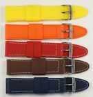 QUALITY Coloured Silicon racing watch strap band waterproof divers rubber mens