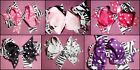 Zebra HAIR BOW boutique girls U PICK color ALLIGATOR CLIP fancy dots KIDS new