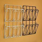 NEW WALL MOUNTED DOUBLE MAGAZINE & NEWSPAPER RACK
