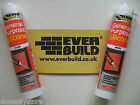 EVERBUILD WHITE / CLEAR SILICONE SEALANT MOULD RESISTANT BATHROOM KITCHEN WINDOW