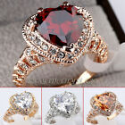 A1-R3053 Fashion Heart-Shape Engagement Wedding Ring 18KGP use Swarovski Crystal