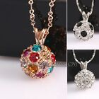 A1-P021 10mm Shamballa Disco Ball Necklace Pendant 18K GP Swarovski Crystal