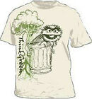 Sesame Street Oscar The Grouch Think Green CREAM Adult Shirt