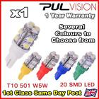 W5W T10 501 LED SIDE LIGHT / INTERIOR / NUMBER PLATE BULB 12 SMD SUPER BRIGHT