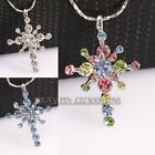 P207 Fashion Simulated Gemstone Star Necklace Pendant GP use Swarovski Crystal