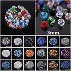 Free Ship 500pc 3mm Faceted Glass Crystal Finding 5301 Bicone Loose Spacer Beads
