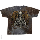 Fallen Angel Gray/Brown Skull vat dye Adult T-shirt