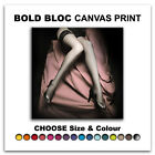 Stockings NUDES EROTIC  Canvas Art Print Box Framed Picture Wall Hanging BBD