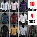 Luxury hot sell Stylish handsome Casual Dress Slim Fit cool Shirts 10Colours
