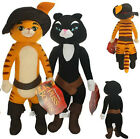 From Shrek 3 series Puss in Boots black Cat Kitty SoftPaws Plush soft animal Toy