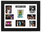 16x20 Black 40TH BIRTHDAY, MULTI APERTURE MOUNT PHOTO/PICTURE FRAME NEXT D