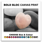 Heart Stone FLORAL  Canvas Art Print Box Framed Picture Wall Hanging BBD