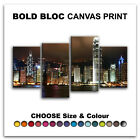 Hong Kong Skyline CITY  Canvas Art Print Box Framed Picture Wall Hanging BBD