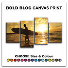 Surfer SEASCAPE SUNSET  Canvas Art Print Box Framed Picture Wall Hanging BBD