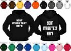 Custom printed hoodies unisex personalised hen stag mans womans workwear hoody