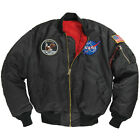 ALPHA INDUSTRIES NASA MODEL APOLLO MA1 FLIGHT SPACE JACKET MISSION PATCHES BLACK