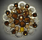 Crystal Berry Concho ~ Handcrafted with Shades of Brown Swarovski Elements