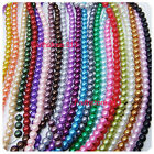 100 pcs Round Glass Pearl Loose spacer beads 6mm Pick 25 Colors-1 Mixed DIY G03