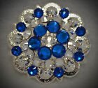 Crystal Berry Concho ~ Handcrafted with Dark Blue Crystal  Swarovski Elements