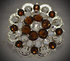 Berry Concho ~ Handcrafted with Dark Brown  Swarovski Elements