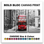 London Retro Bus CITY  Canvas Art Print Box Framed Picture Wall Hanging BBD