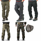 k mens winter thermal fully lined warm work trousers camo cargo work wear pants