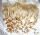 Remi Remy Full Lace Frontal Wig Indian Human Hair Blonde Body Wave Wavy