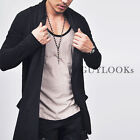 Avant-garde Edge Mens Designer Shawl Collar Long Jacket Cardigan S M By Guylook