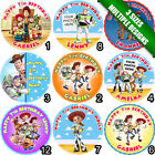 Toy Story Woody Jessie Buzz Lightyear Circle Round Icing Cake Topper b