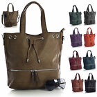 New Fashion Boutique Faux Leather Zip Across Single Strap Designer Tote Handbag