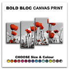 Poppies Flowers FLORAL  Canvas Art Print Box Framed Picture Wall Hanging BBD