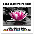 Water Lily Flowers FLORAL  Canvas Art Print Box Framed Picture Wall Hanging BBD