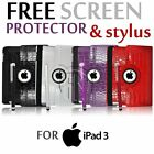 360 ROTATING CROCODILE LEATHER CASE COVER FOR APPLE IPAD WITH RETINA DISPLAY