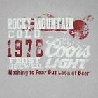 Coors Mountain Beer SILVER Adult T-shirt