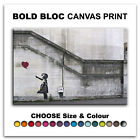 Balloon Girl BANKSY Street  Canvas Art Print Box Framed Picture Wall Hanging BBD