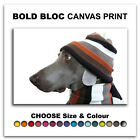 Dog in Hat ANIMALS  Canvas Art Print Box Framed Picture Wall Hanging BBD