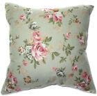 AF53a Pink Rose Flower Cotton Canvas Cushion Cover/Pillow Case *Custom Size*