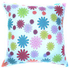 AF61a Multi-Color Flower Cotton Canvas Cushion Cover/Pillow Case*Custom Size